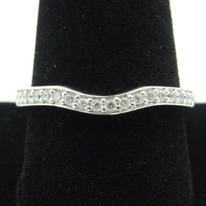 Vintage Size 10 Sterling Clear CZ Diamond Ring